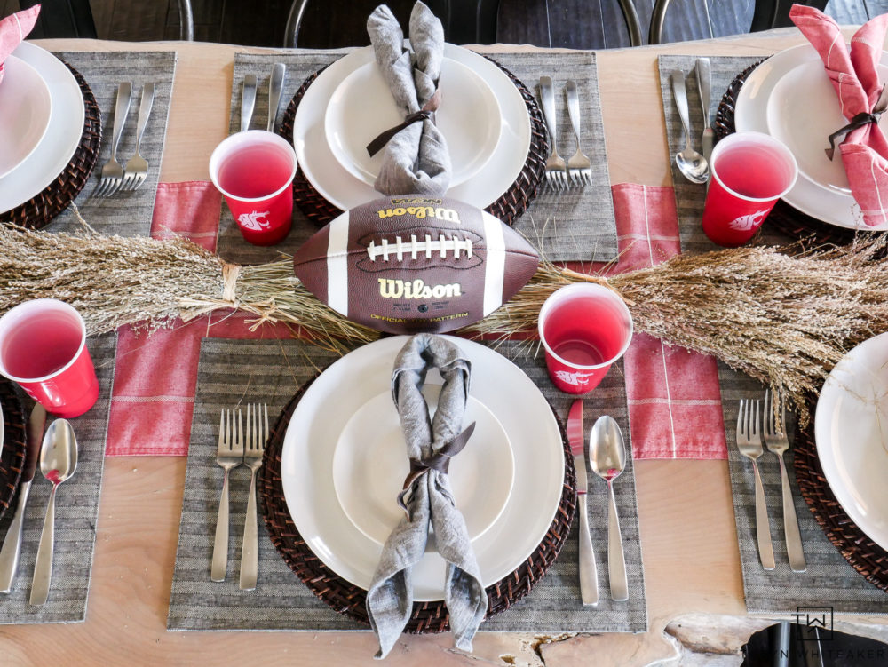 It's game day! Cheer on your favorite team with this cute football themed tablescape.