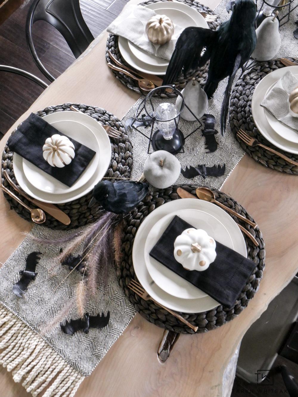 Black And White Halloween Table Decorations Taryn Whiteaker