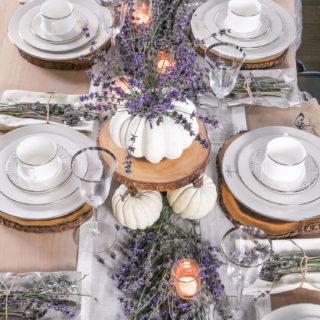 Fresh Lavender Fall Tablescape