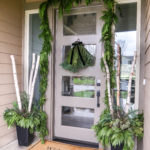 Christmas Porch With Fresh Greens
