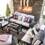 Cozy Christmas Outdoor Living Space