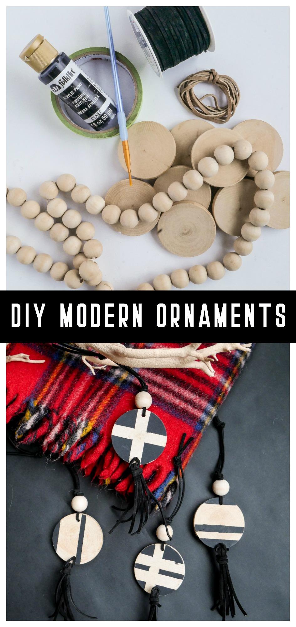 DIY Modern Wood Christmas Ornaments