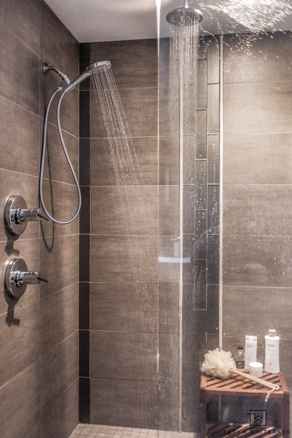 Update your master bathroom shower with the Hansgrohe PowerRain Technology to create a luxurious shower experience! Turn your shower into a spa!