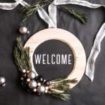 DIY Plate Charger Christmas Wreath