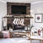 Scandinavian Inspired Christmas Mantel