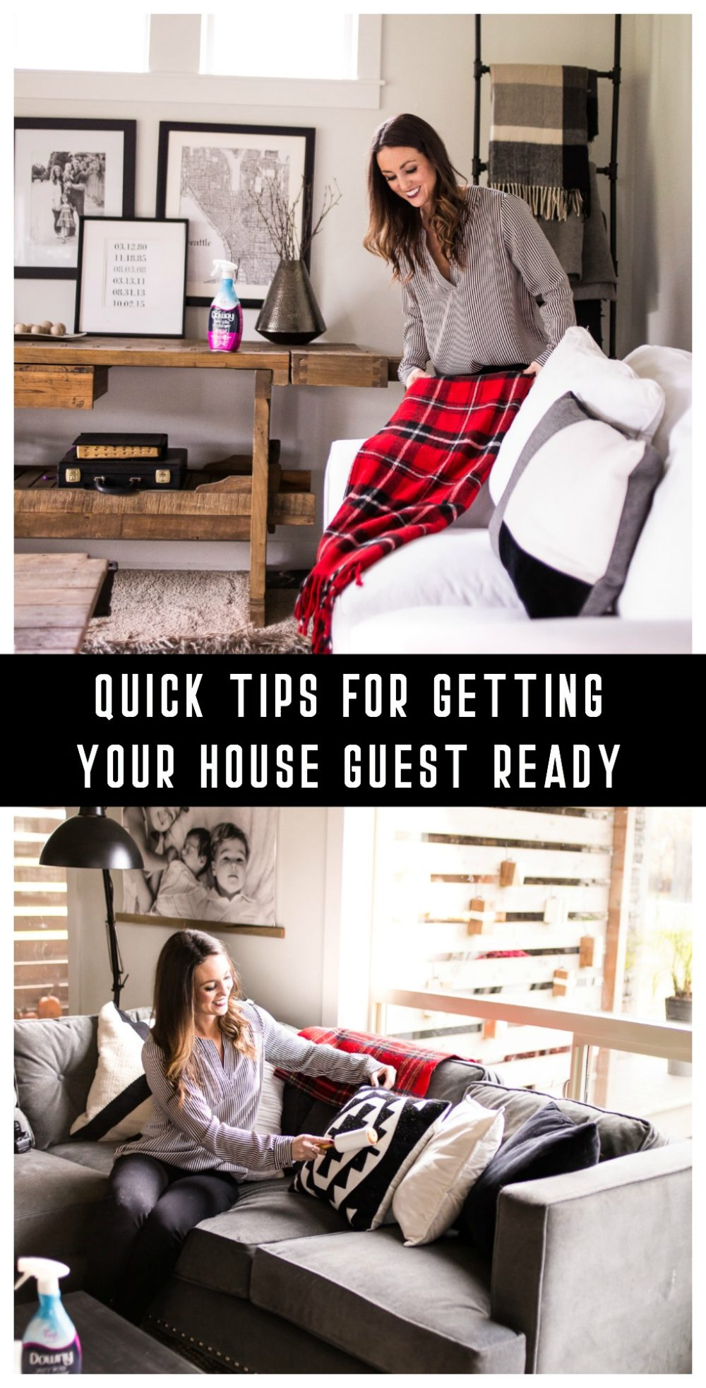 Getting ready for the holidays can be stressful. Here are quick tips for getting your house guest ready, simple ways to freshen up your home and you!