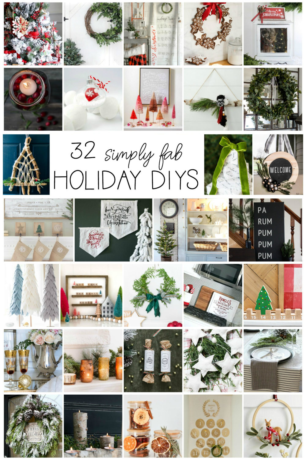 Tons of holiday craft and decor ideas!