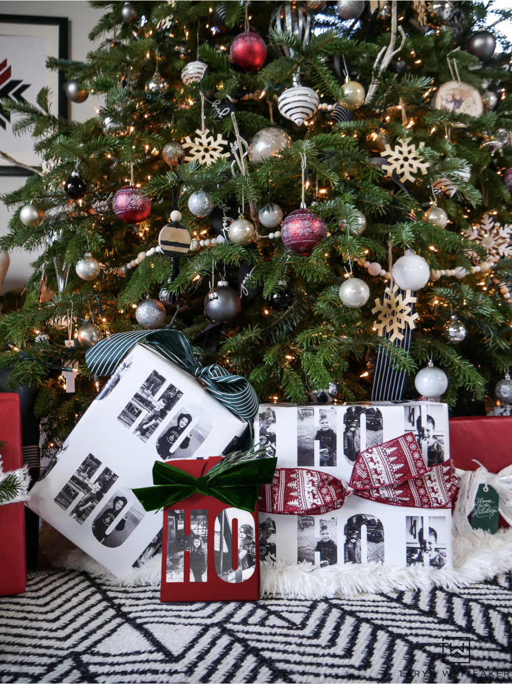 Create special holiday memories with your family by creating personalized Christmas wrapping paper using your favorite family photos from throughout the year!