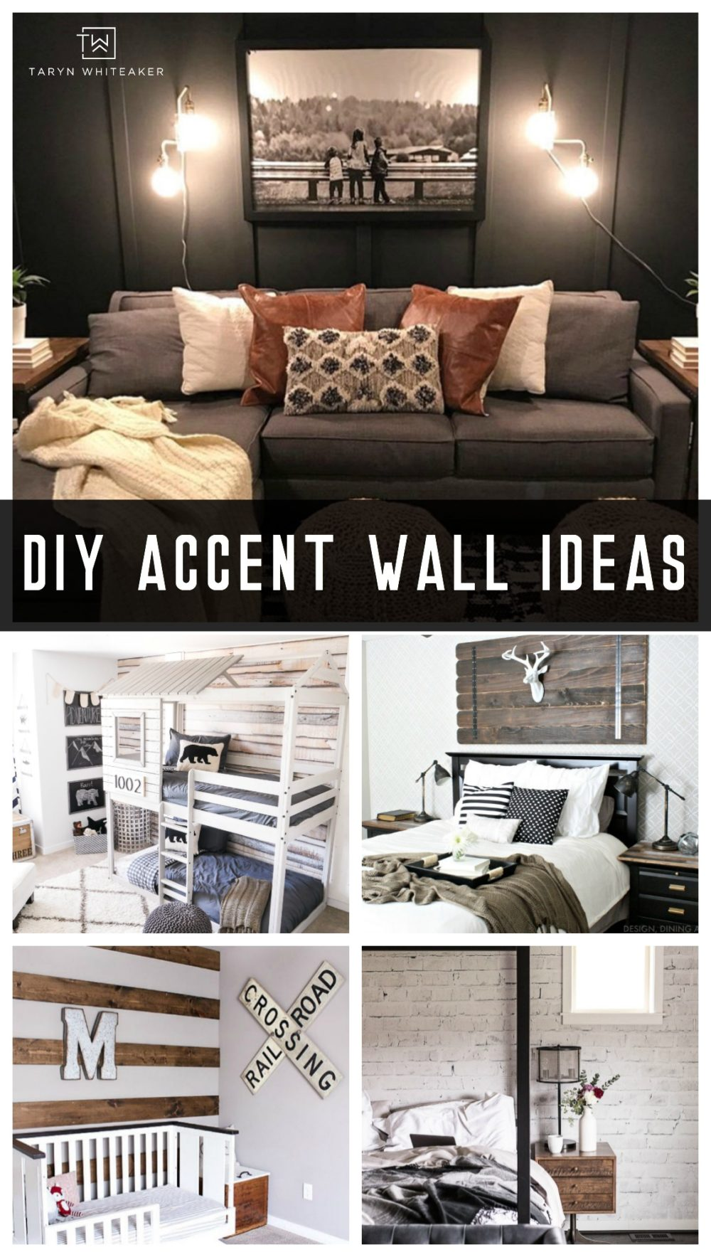 Fresh DIY Accent Wall Ideas from paint to wallpaper and wood!
