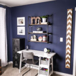 Rustic Navy Blue Boys Room Decor