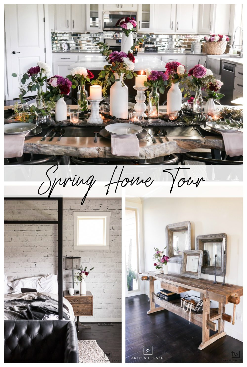 Spring Home Tour filled with fresh flowers and touches of pink!