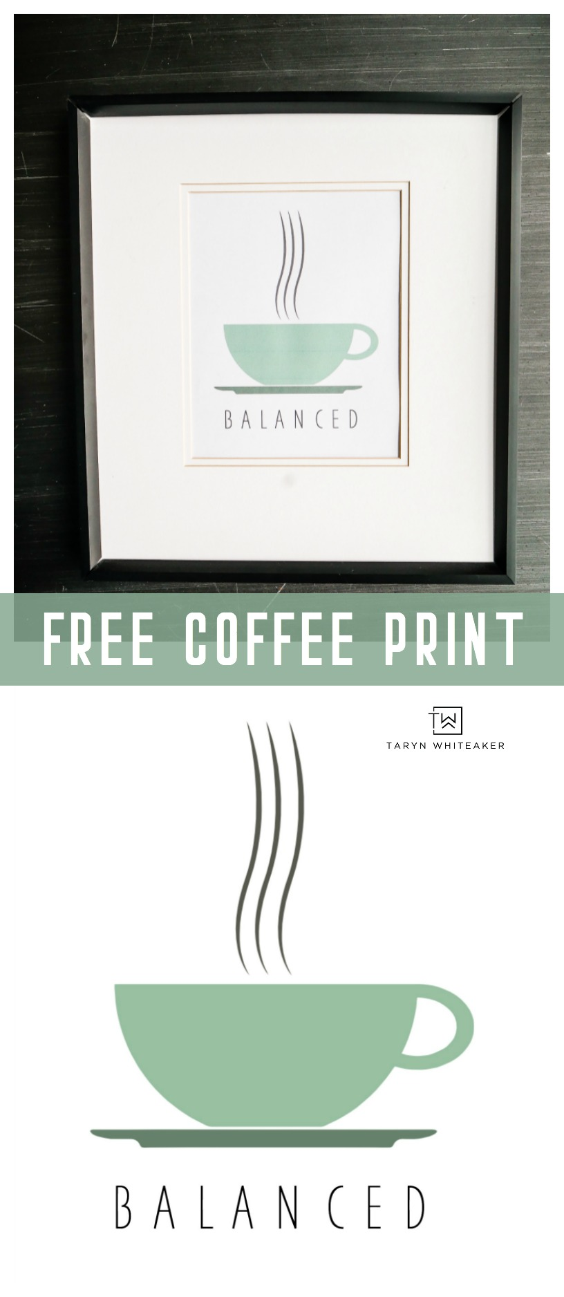 Instantly download your own free coffee printable! Perfect way to start your morning :)