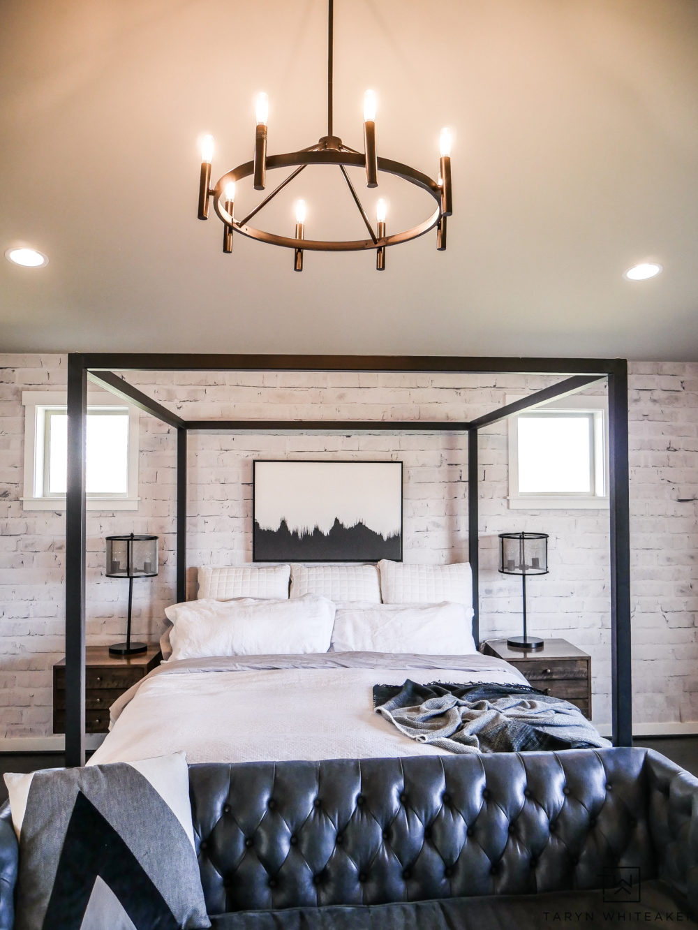 Black And White Master Bedroom Updates Taryn Whiteaker