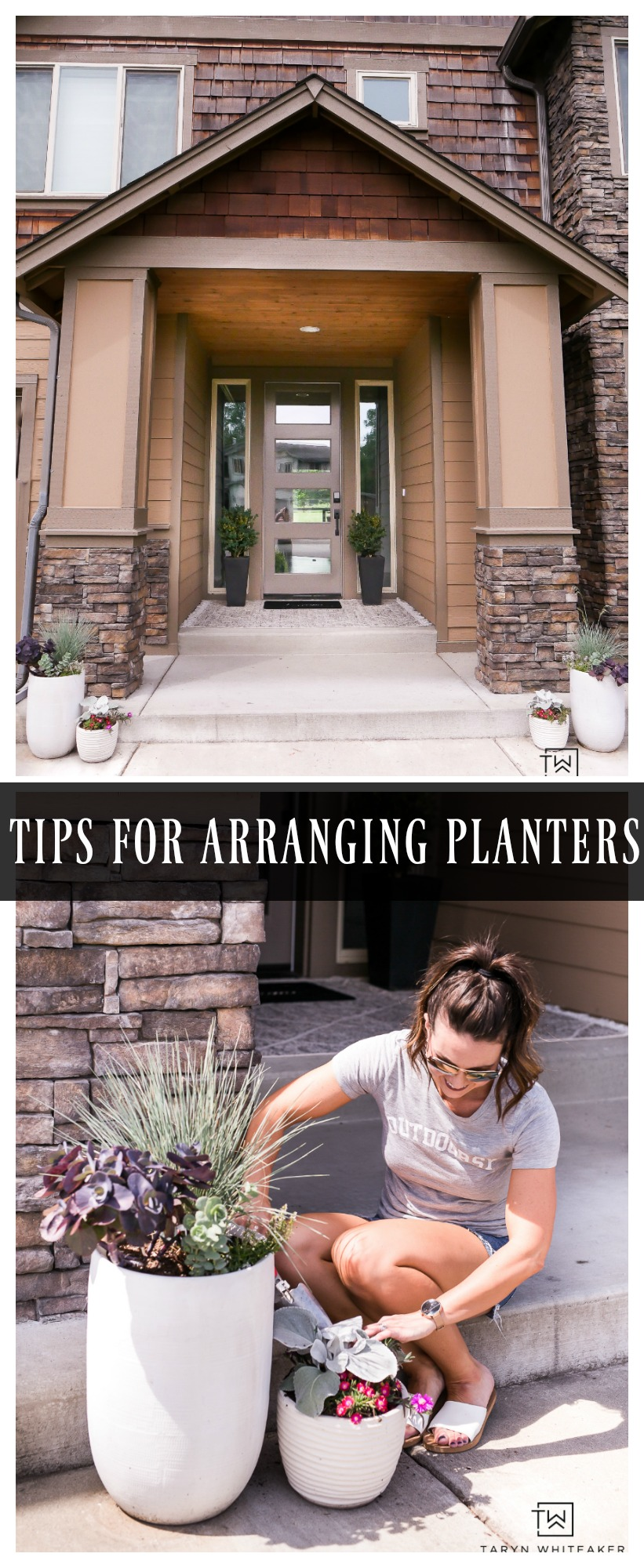 Gardening this summer? Here are a few tips for arranging planters for your porch!