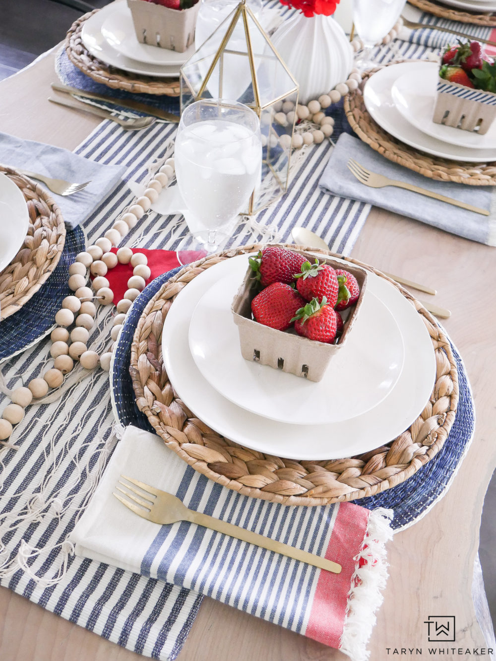 Red, white and blue table decor!