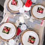 Coastal Fourth of July Table Decor