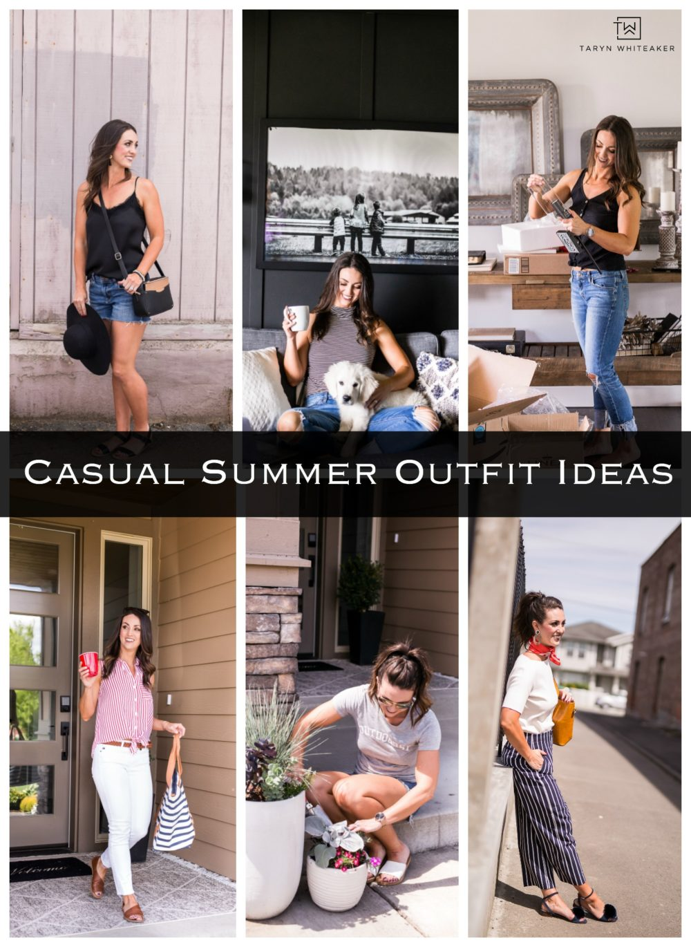 Lots of easy casual summer outfits with links!