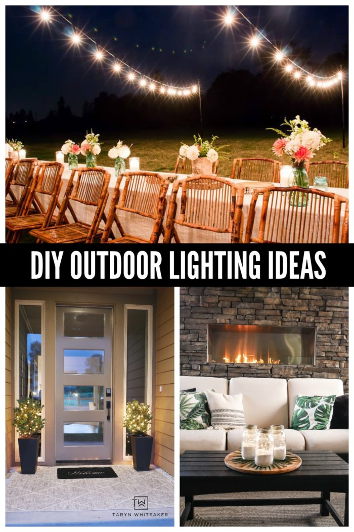 Learn how to add an extra sparkle to your outdoor space this summer with these DIY Outdoor Lighting Ideas!