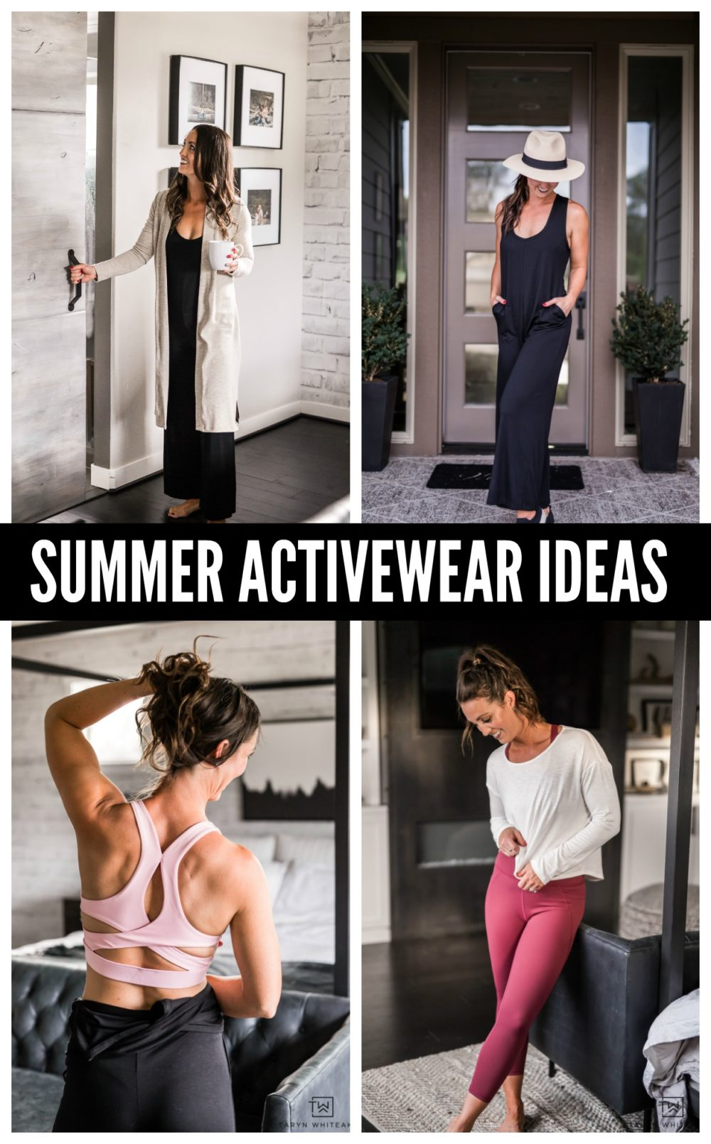 Tons of summer activewear ideas! From morning lounge wear to yoga class.