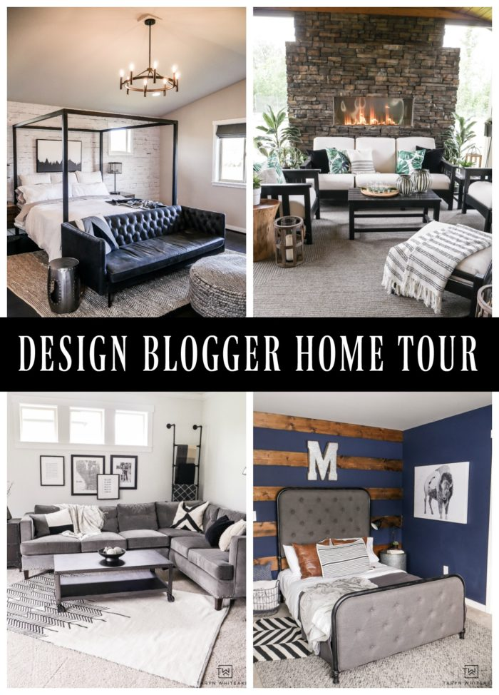 CLICK to take a tour of this sophisticated modern home by design blogger, Taryn Whiteaker.