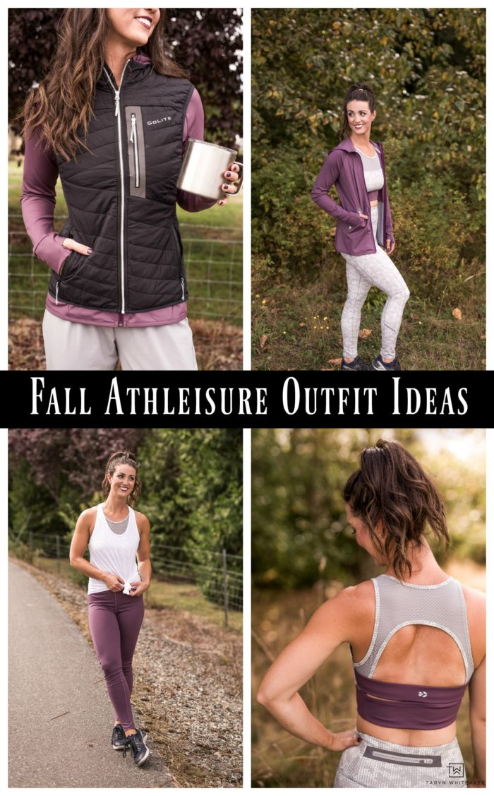 Tons of fall Athleisure outfit ideas! From the soccer fields, to hiking and and going to the gym. Great pieces, click for discount code!