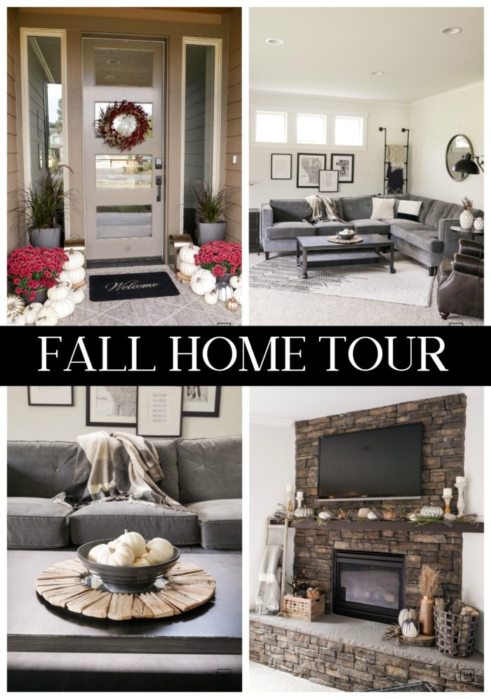 Fall home tour! Tour this neutral fall decor from the porch to the living room.