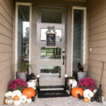 Halloween Porch Decor & Free Halloween Door Sign
