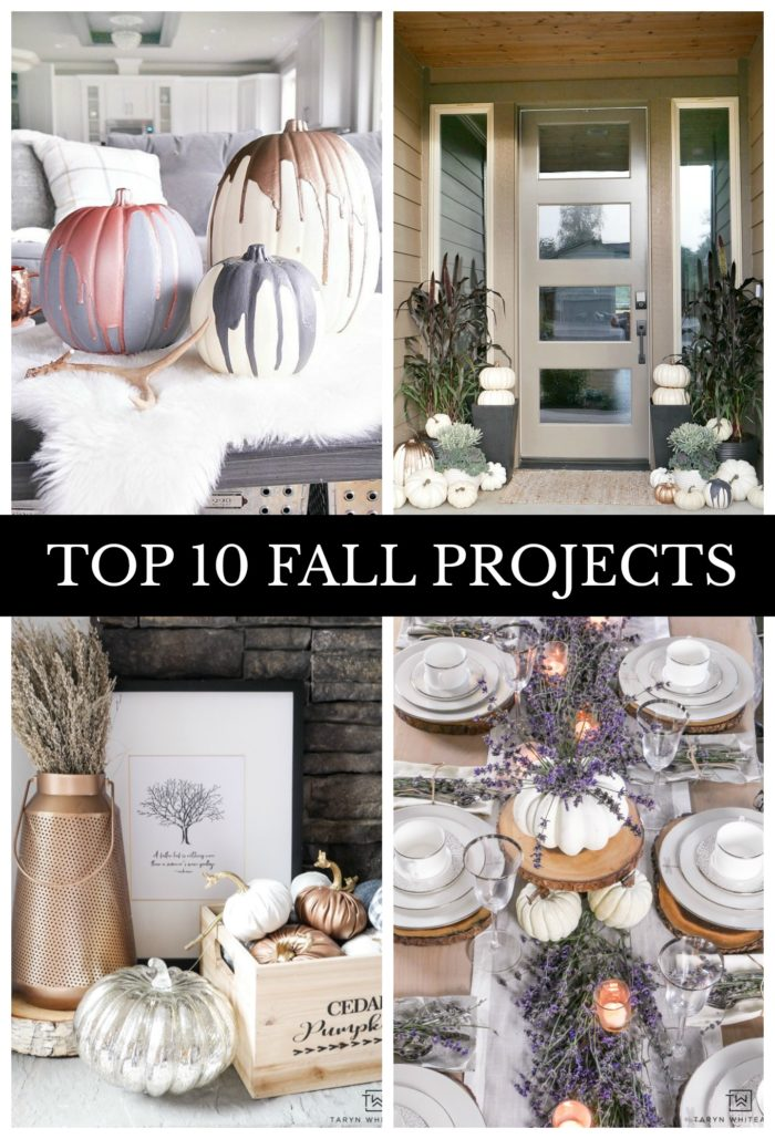 Check out the Top 10 Most Popular Fall Projects from Taryn Whiteaker Designs!