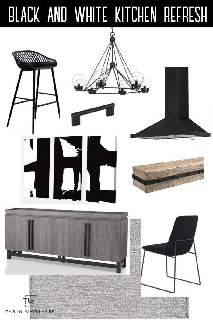 Black and White Mid Century Modern Kitchen Remodel. Get the look!