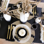 Black and Gold Halloween Table Decor