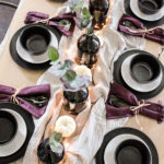 Black and Plum Fall Table