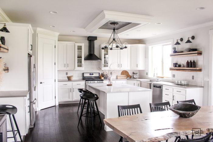 Black And White Modern Kitchen Reveal Taryn Whiteaker