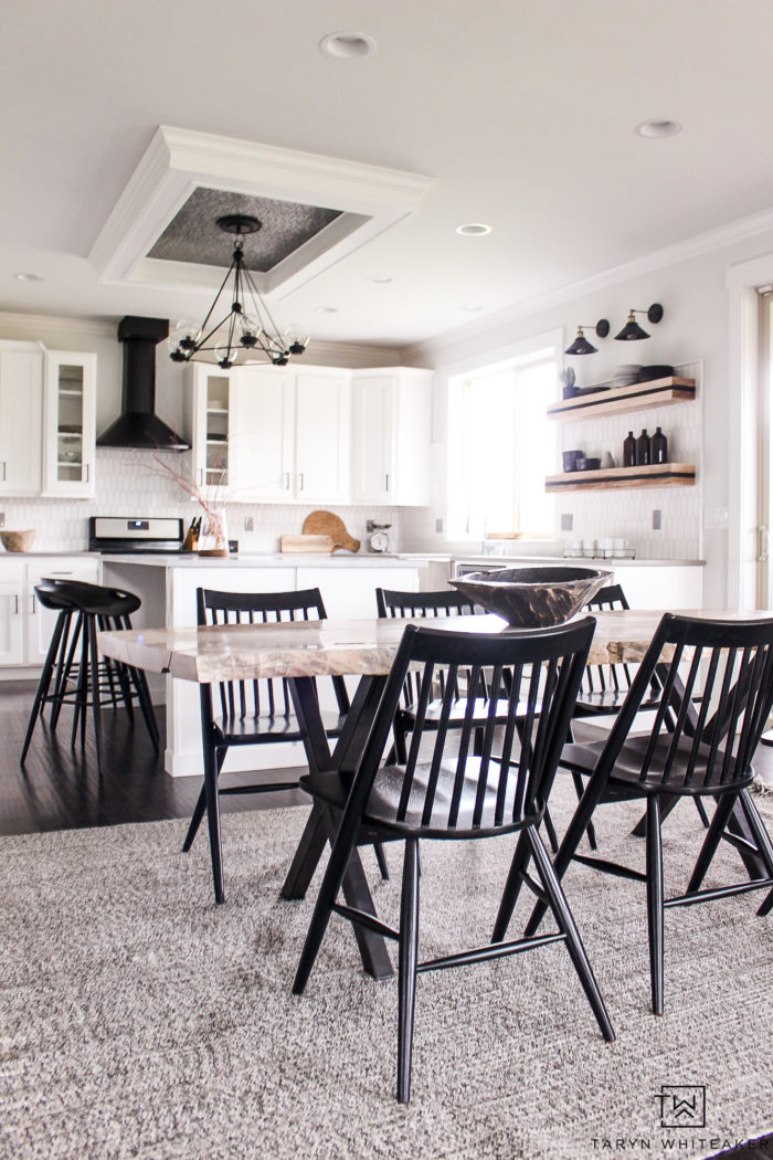 Modern black and white kitchen renovation, you have to see the before!