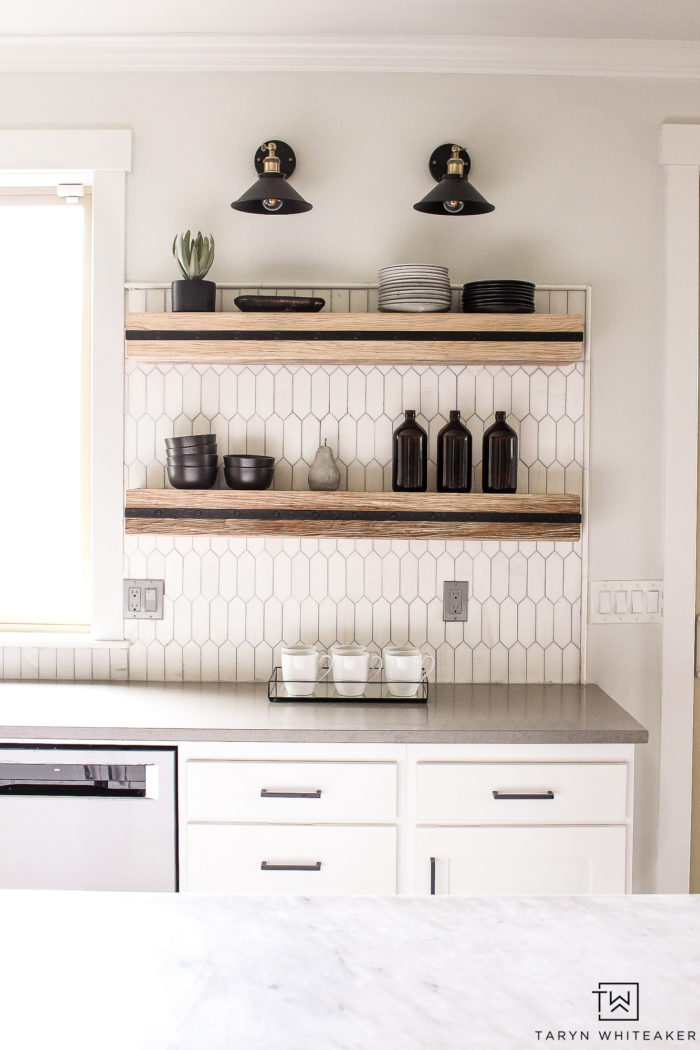 Let's talk about Installing Floating Shelves In Kitchen! From creating extra space to store dishes to providing a design element, you can do these yourself!