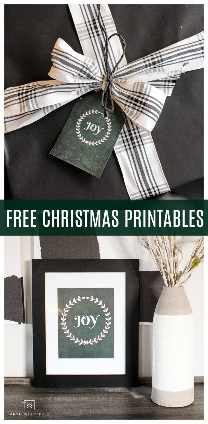 Download your own emerald Christmas prints to make DIY Gift tags or cute Christmas decor prints!