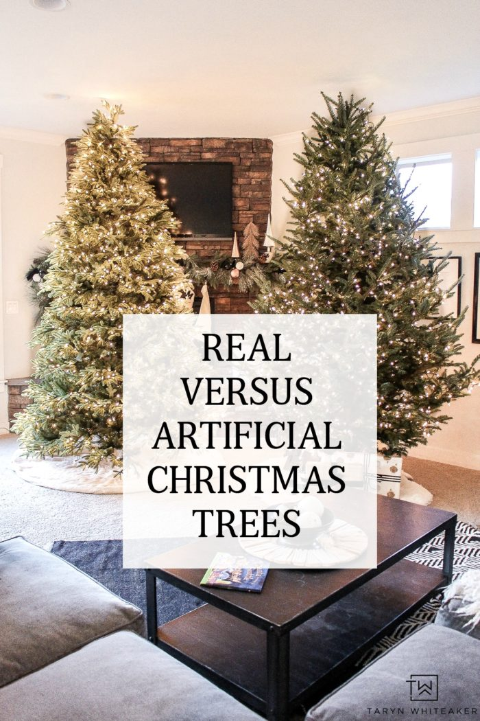 Talking all about real versus artifical Christmas trees today! Which one do you prefer? Let's discuss the pros and cons of each.