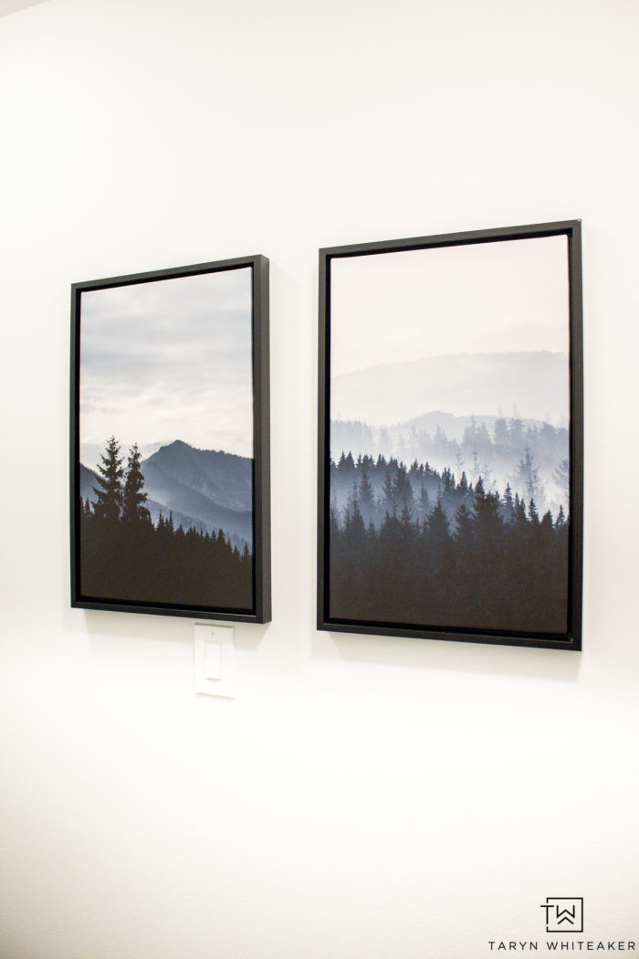 Modern forest prints from Home Depot
