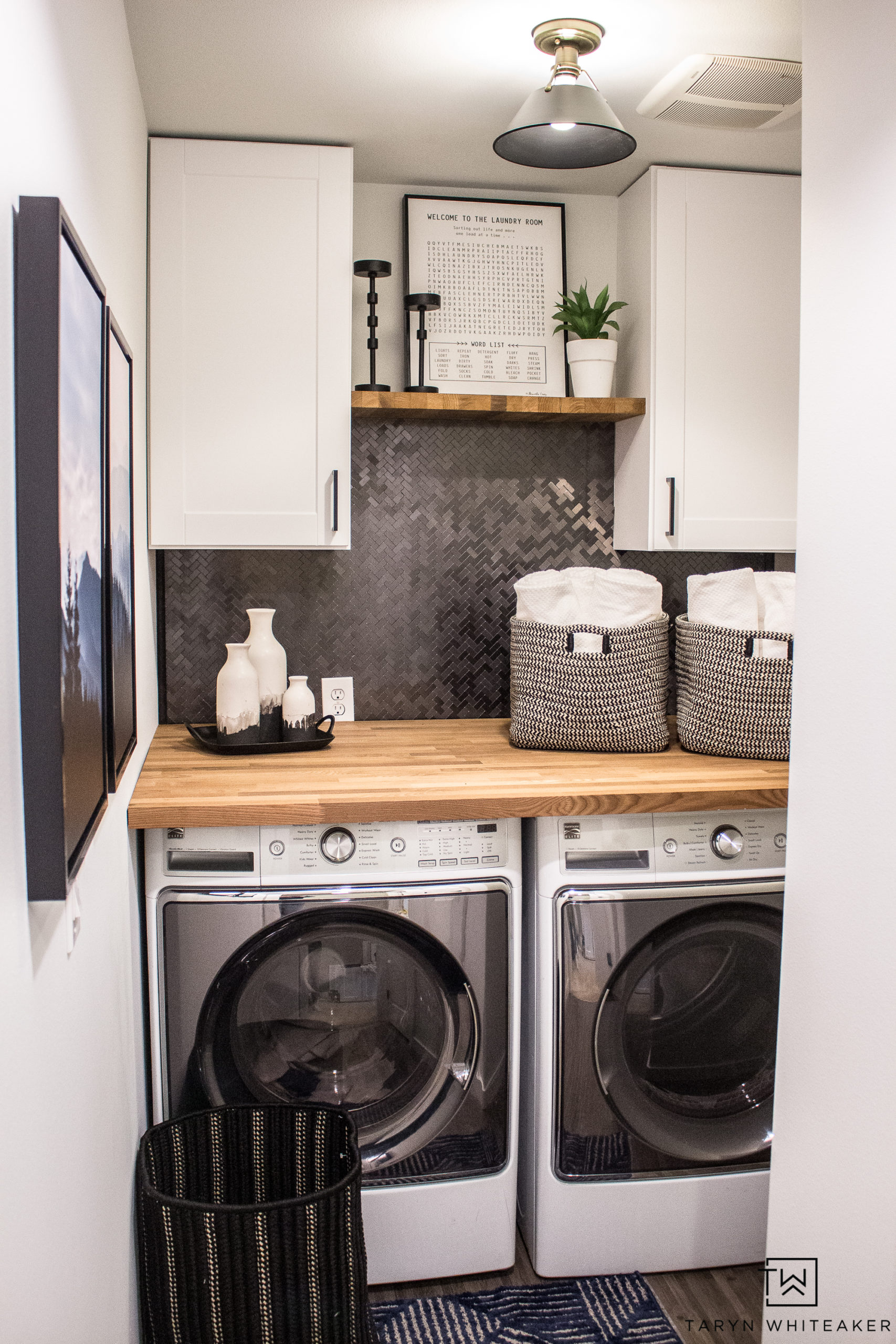 Small Laundry Room Makeover - Taryn Whiteaker