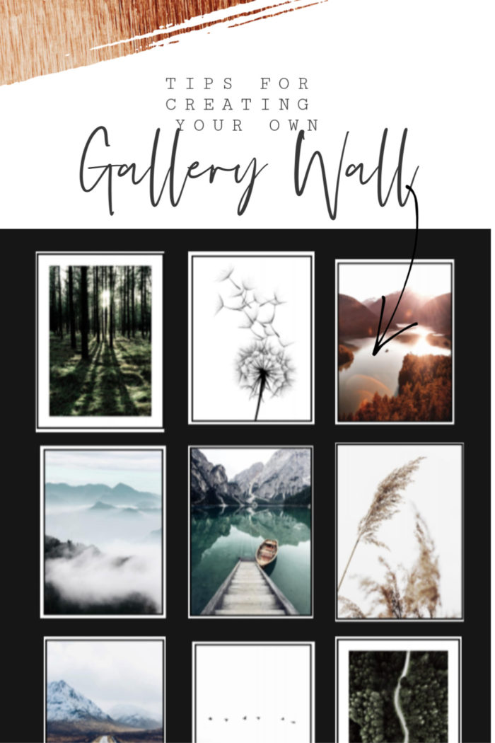 Get all the Tips For Creating A Gallery Wall in your own home! From picking prints to how to arrange them.