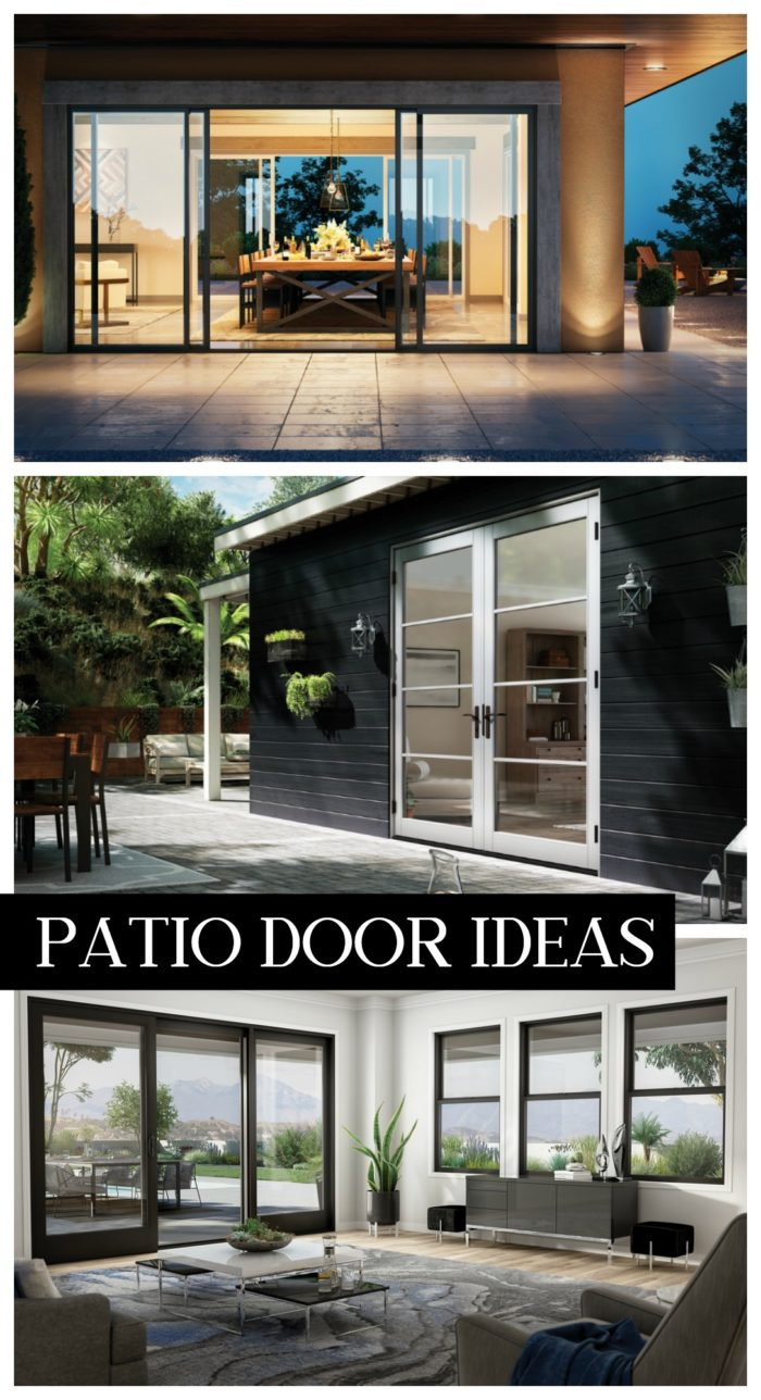 Tons of patio door ideas to open up your home from simple sliding doors to full moving glass walls.