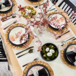 Black and Pink Easter Table Decor