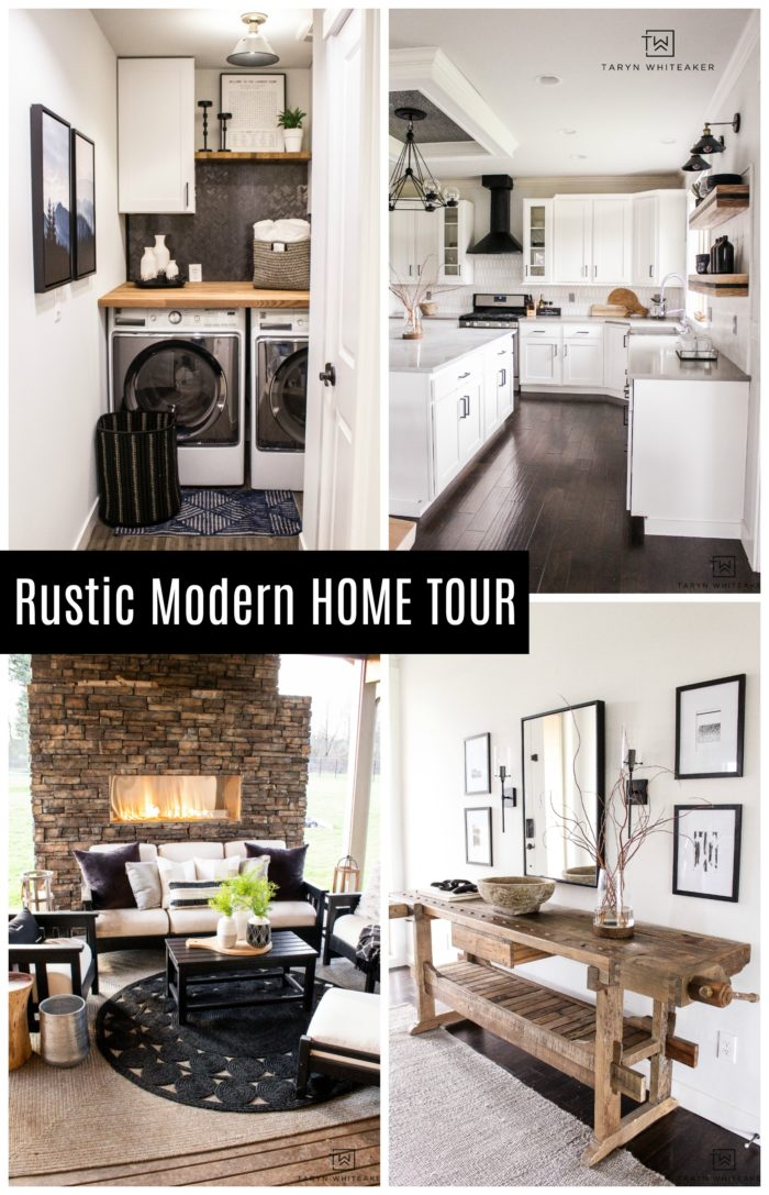 Take a tour of this designer's rustic modern home that she has remodeled over the years.