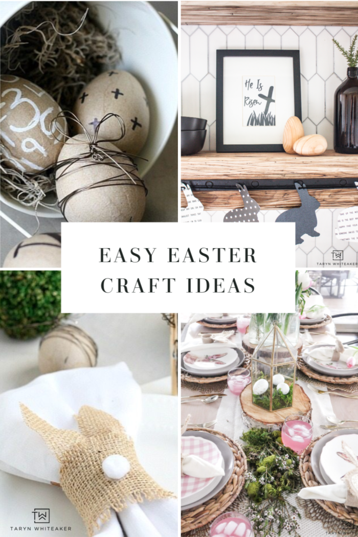 Easy Easter Craft ideas for the whole family! From Sharpie Eggs to Free Easter Printables and more.