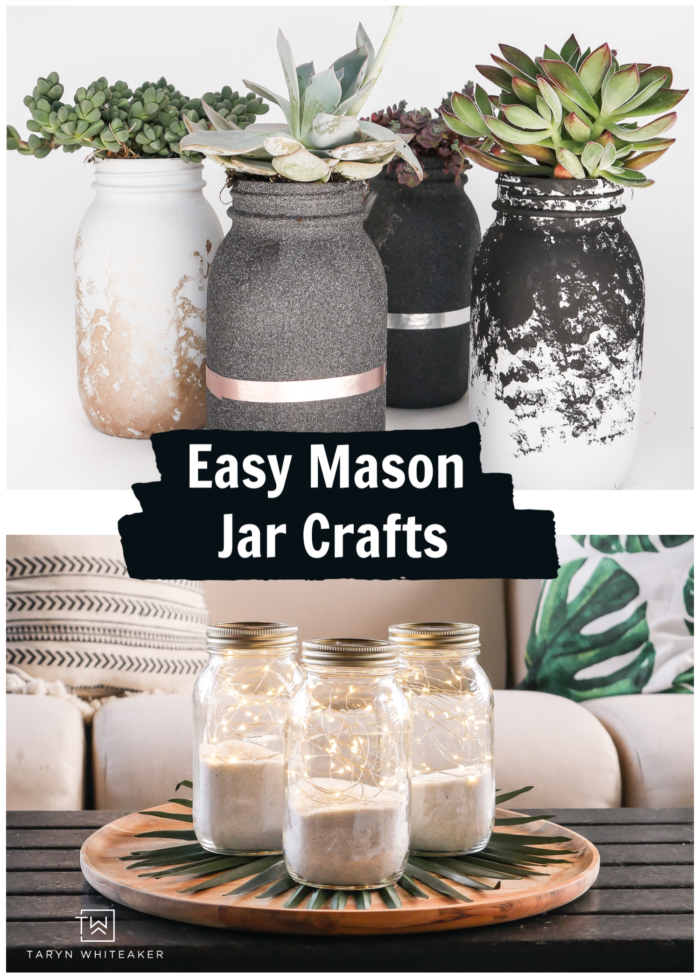 Learn how to make cute and easy mason jar crafts out of recycled bottles!