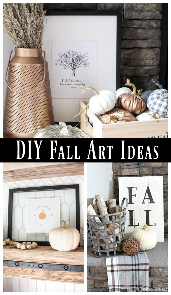 Need expensive ways to bring fall into your home? Here are tons of DIY Fall Art ideas and many of them are FREE!