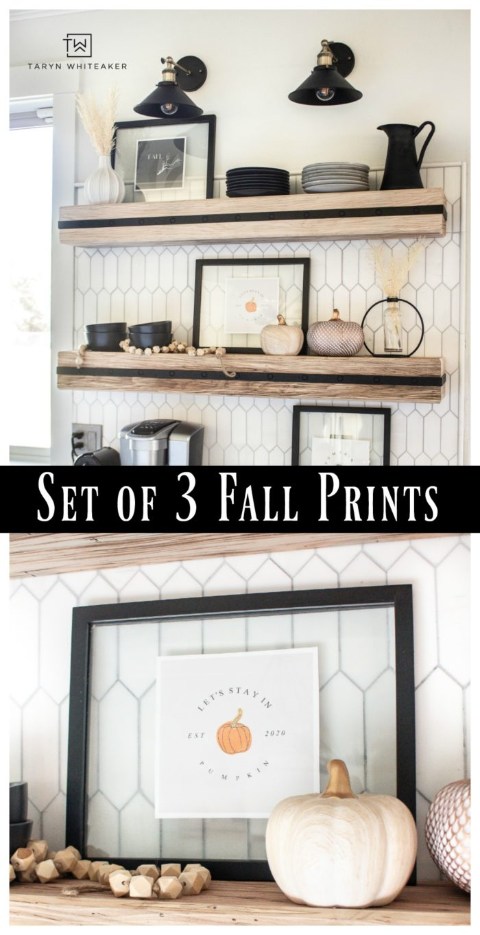 Download your own set of free Pumpkin Spice Printables for your fall decor this year! Just download and print your own fall prints!