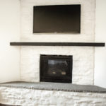 German Schmear Stone Fireplace