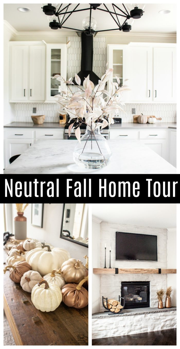 Tour this neutral home filled with Simple Fall Home decor that makes it feel fresh and elegant but also seasonal.