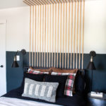 Bedroom Vertical Slat Wall