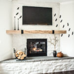 Minimalistic Halloween Mantel Decor